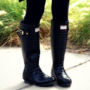 Jimmy Choo Hunter Croc Wellingtons Rain Boots